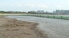 长沙松雅湖打造国内最大湖泊沙滩
