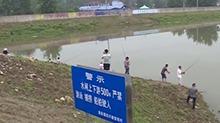 澧县:防汛水闸放水 劝退捕鱼群众