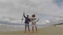 论航拍机的新玩法 350公尺外钓20公斤重大鱼 航拍机是功臣