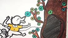 5068网儿童画第27期:小母鸡的智慧
