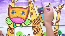 5068网儿童画第40期:夜游的猫头鹰