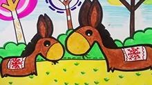 5068网儿童画第49期:小毛驴