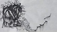 5068网国画课程第24期:山石树木结合 树木远山勾线皴擦