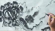 5068网国画课程第25期:山石树木结合 远山及细节
