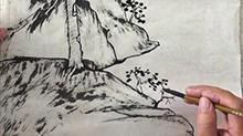 5068网国画课程第42期:竖幅长卷 山石刻画
