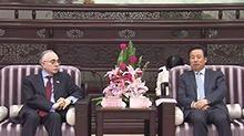许达哲会见巴基斯坦驻华大使马苏德·哈立德