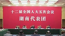 湖南代表团开放日 杜家毫、许达哲等答记者问