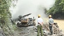 山洪导致170公里道路受损 干部群众合力抢修