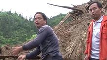 溆浦:山体滑坡致三人被埋 干部群众合力成功营救