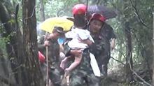 慈利:15名游客被困 消防紧急施救