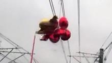 """上海:地铁遇上""""难缠气球"""" 导致早高峰延误"""