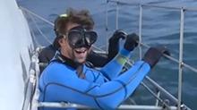 """南非:人鲨对决 """"飞鱼""""两秒惜败<B>大白鲨</B>"""