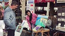 才女!<B>张馨予</B>停工赴巴黎进修油画 街头卖画赚钱请友人吃饭
