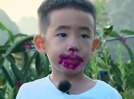 爸爸去哪儿第五季第6期:neinei化身解围小天使助力陈小春 Jasper火龙果园收获新型唇妆