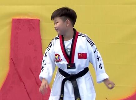 跆拳道黑带少年来闯关!